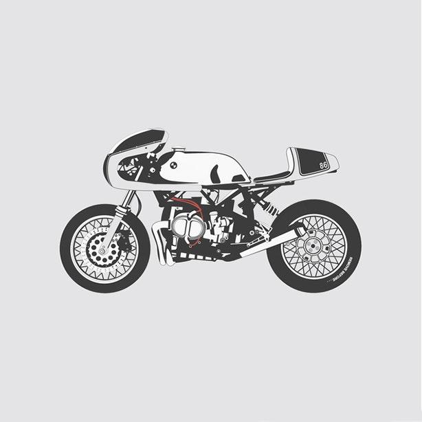 BMW Cafe Racer Artprint