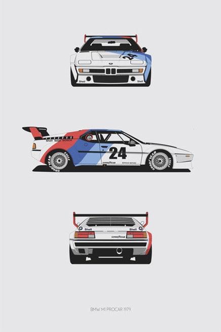 BMW M1 Procar Trilogy Print