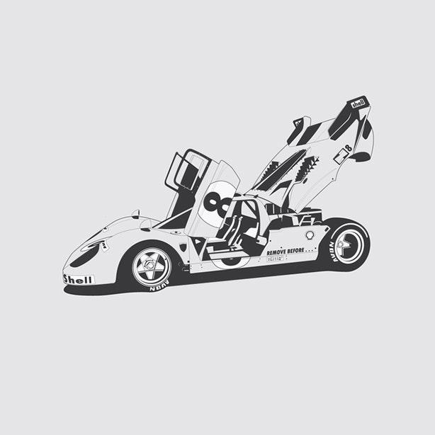 Ferrari 512 Artprint