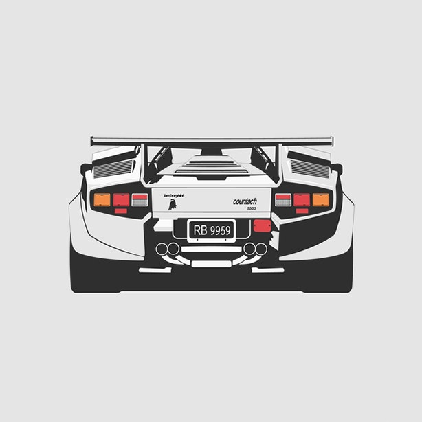 Lamborghini Countach 5000QV Artprint