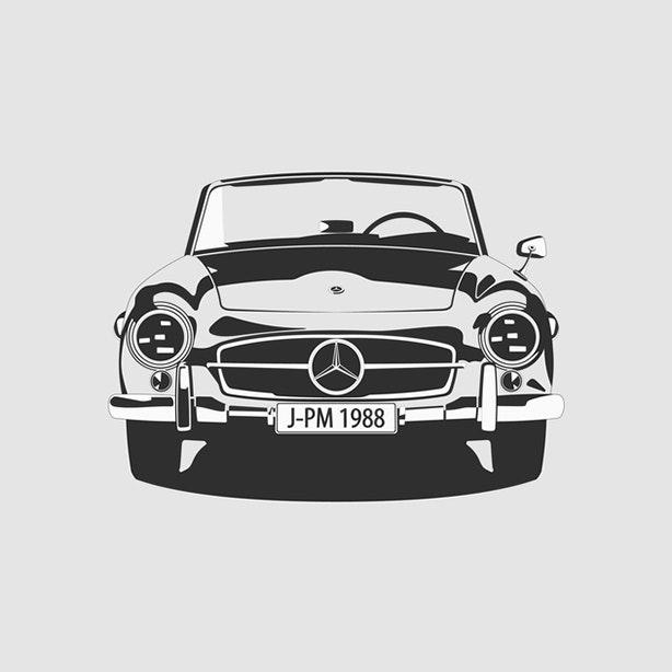 Mercedes SL190 Artprint  1