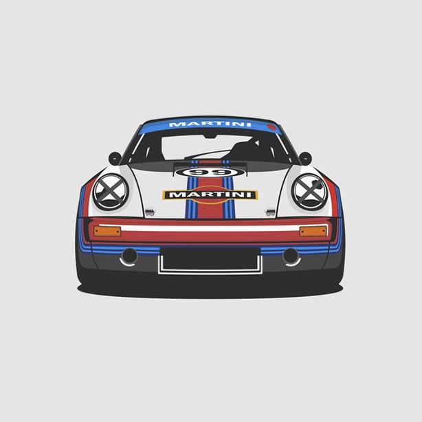 Porsche 911 RS Martini Artprint  1