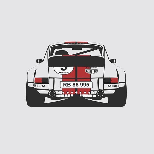 Porsche 911 Rear Artprint  1