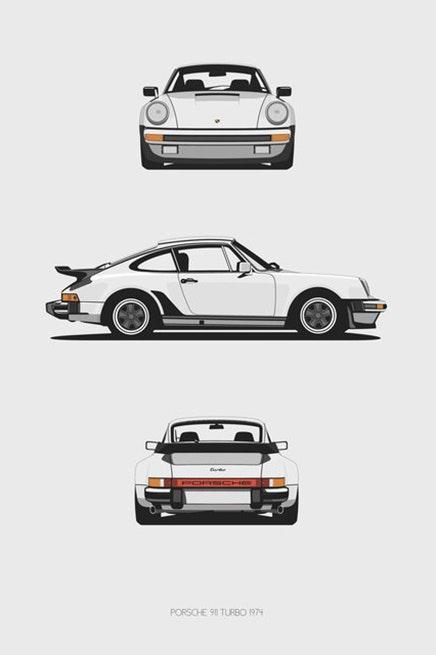 Porsche 911 Turbo Trilogy Print