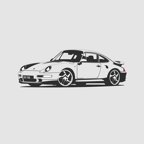 Porsche 993 Artprint  1