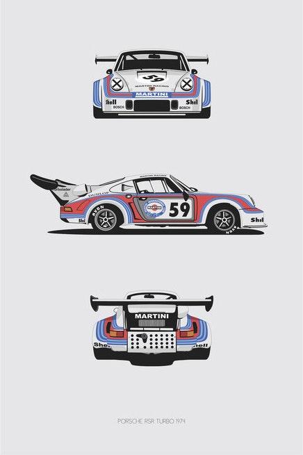 Porsche RSR Turbo 1974 Trilogy Print