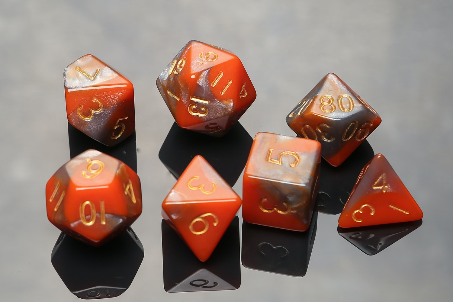 Combo Attack Orange/Brown with Gold Numbers