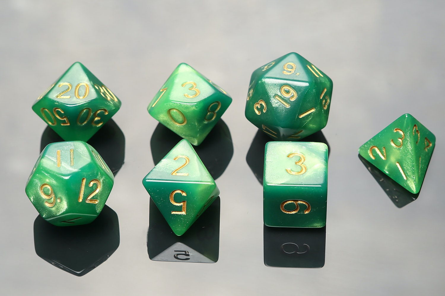 Combo Attack Green/Light Green with Gold Numbers