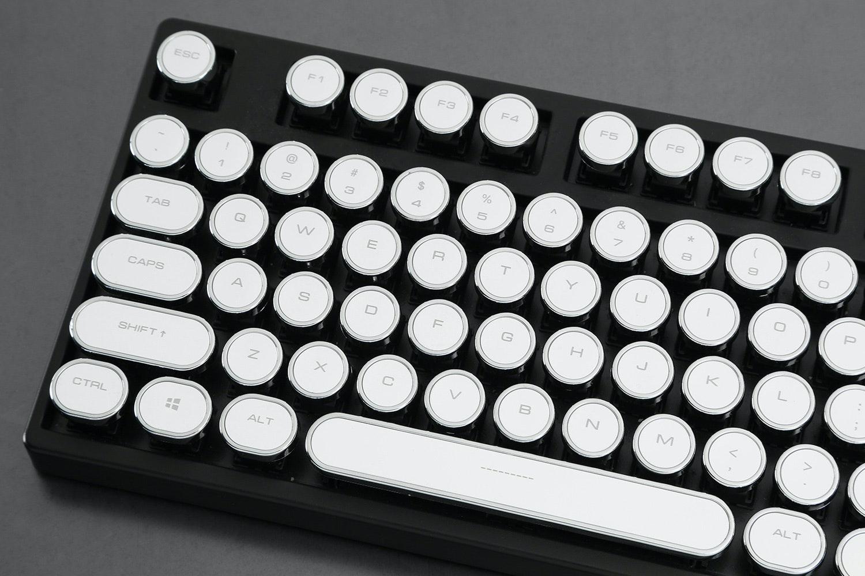 Retro White Typewriter Keycap Set