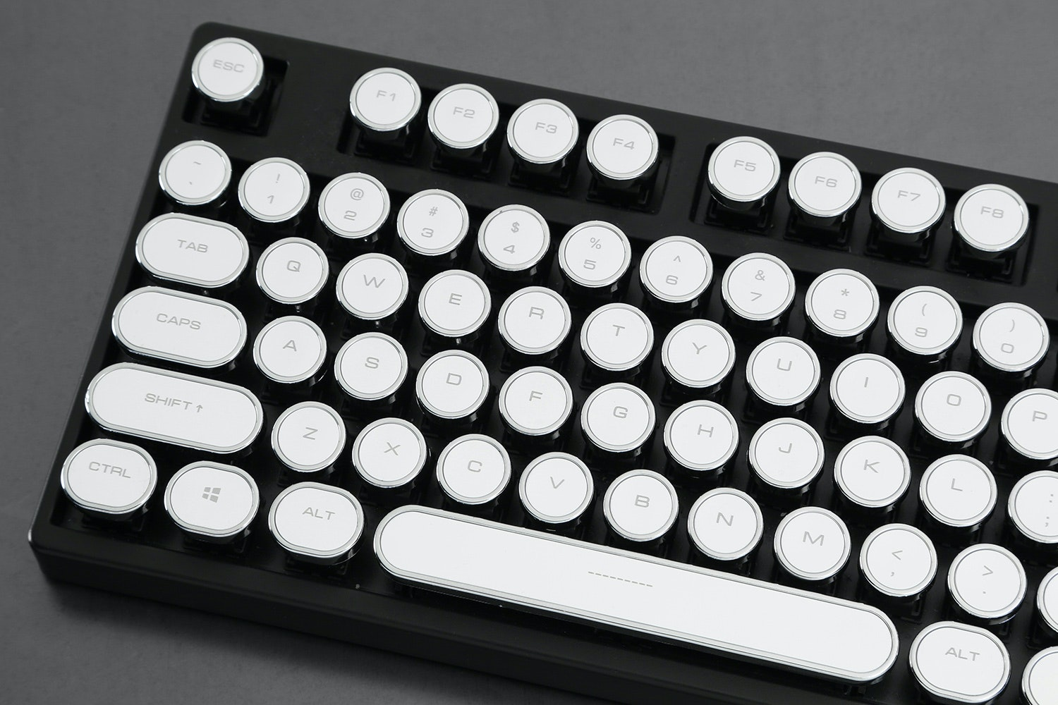 Retro White Typewriter Keycap Set