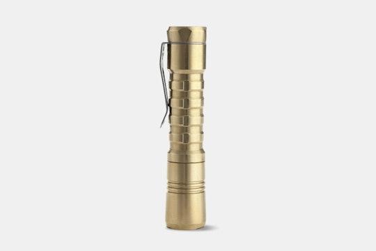 ReyLight Pineapple Brass AA Flashlight