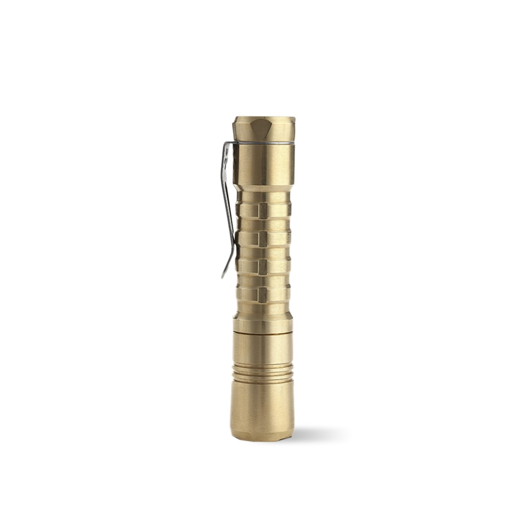 ReyLight Pineapple Brass AA Flashlight