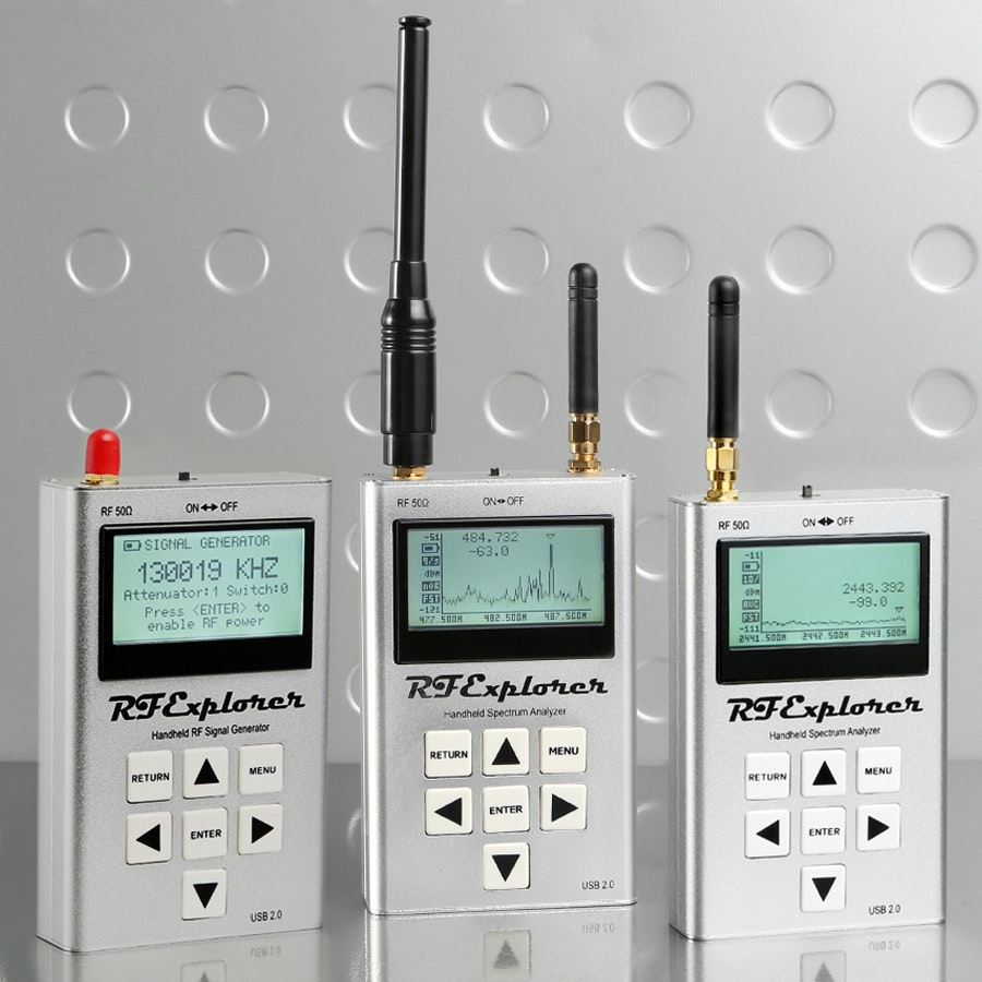 RF Explorers 2.4G, 3G, 6G Combos & Signal Generator