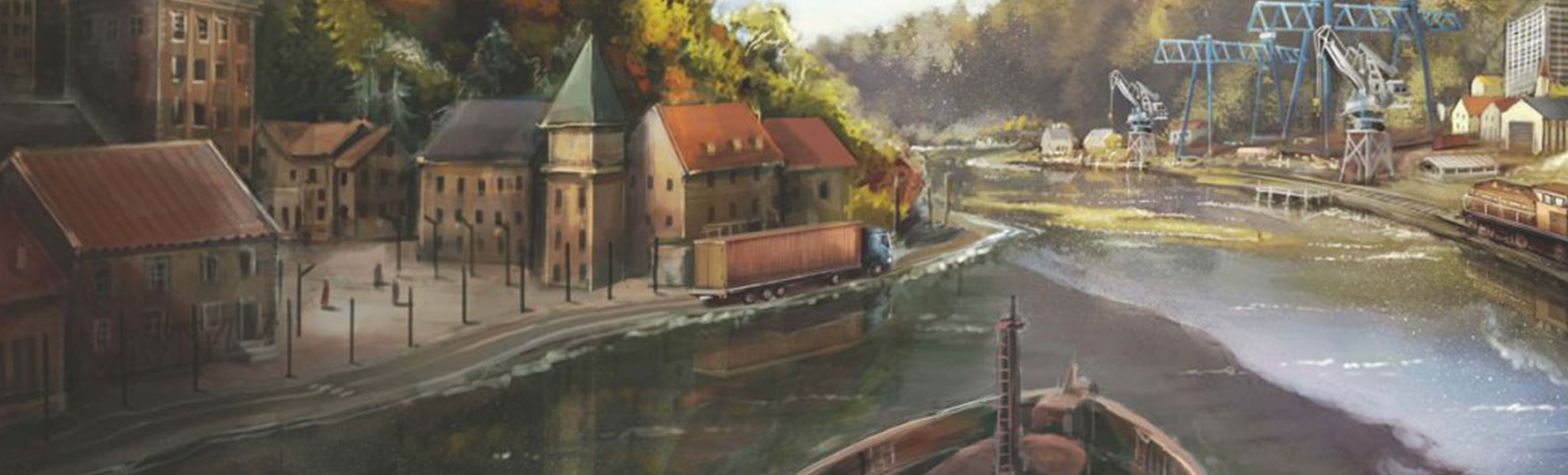 Rhein: River Trade Board Game