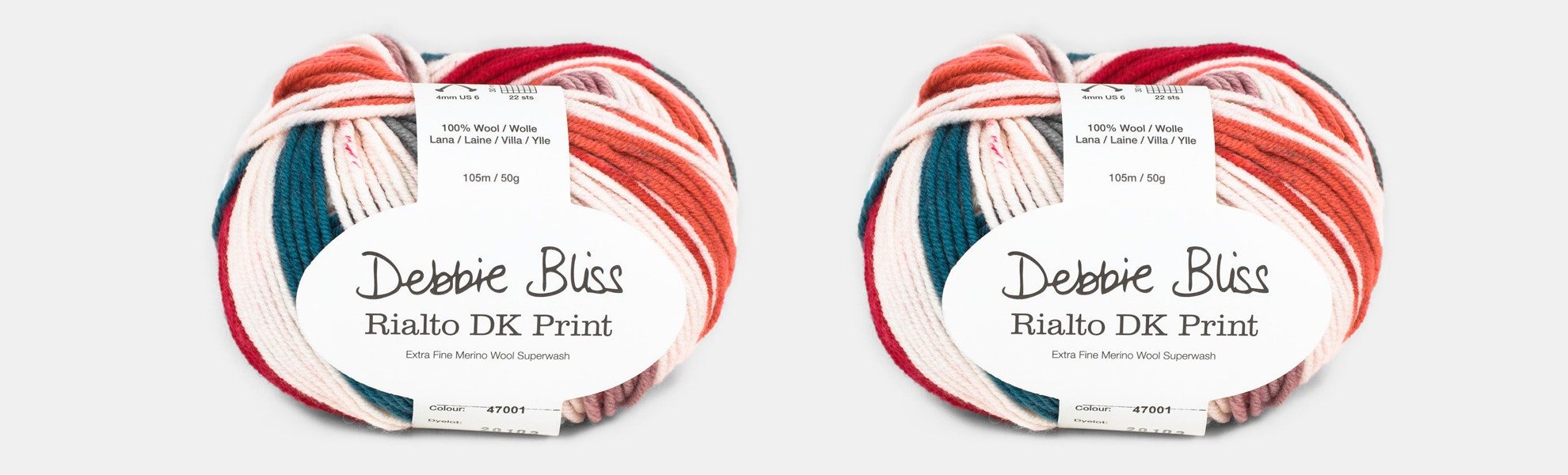Rialto DK Prints Yarn by Debbie Bliss (2-Pack)