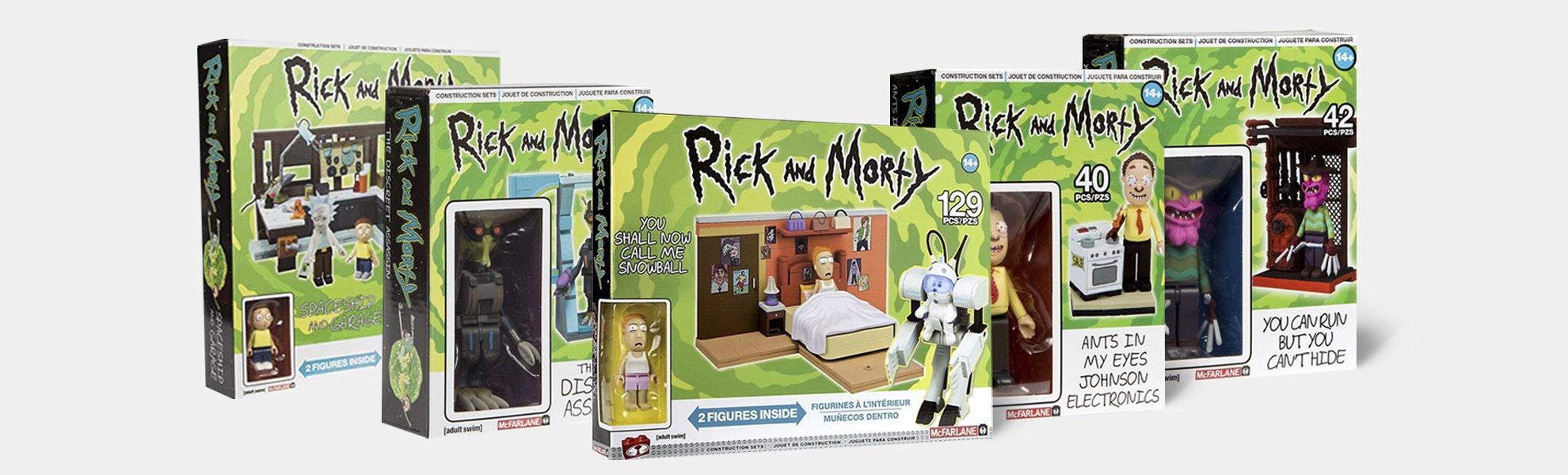 Rick & Morty Construction Set Bundle