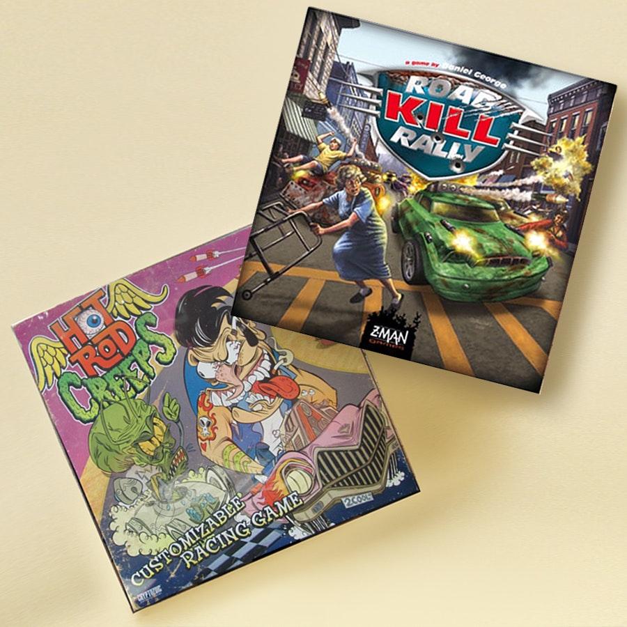 Road Kill Rally and Hot Rod Creeps Board Games