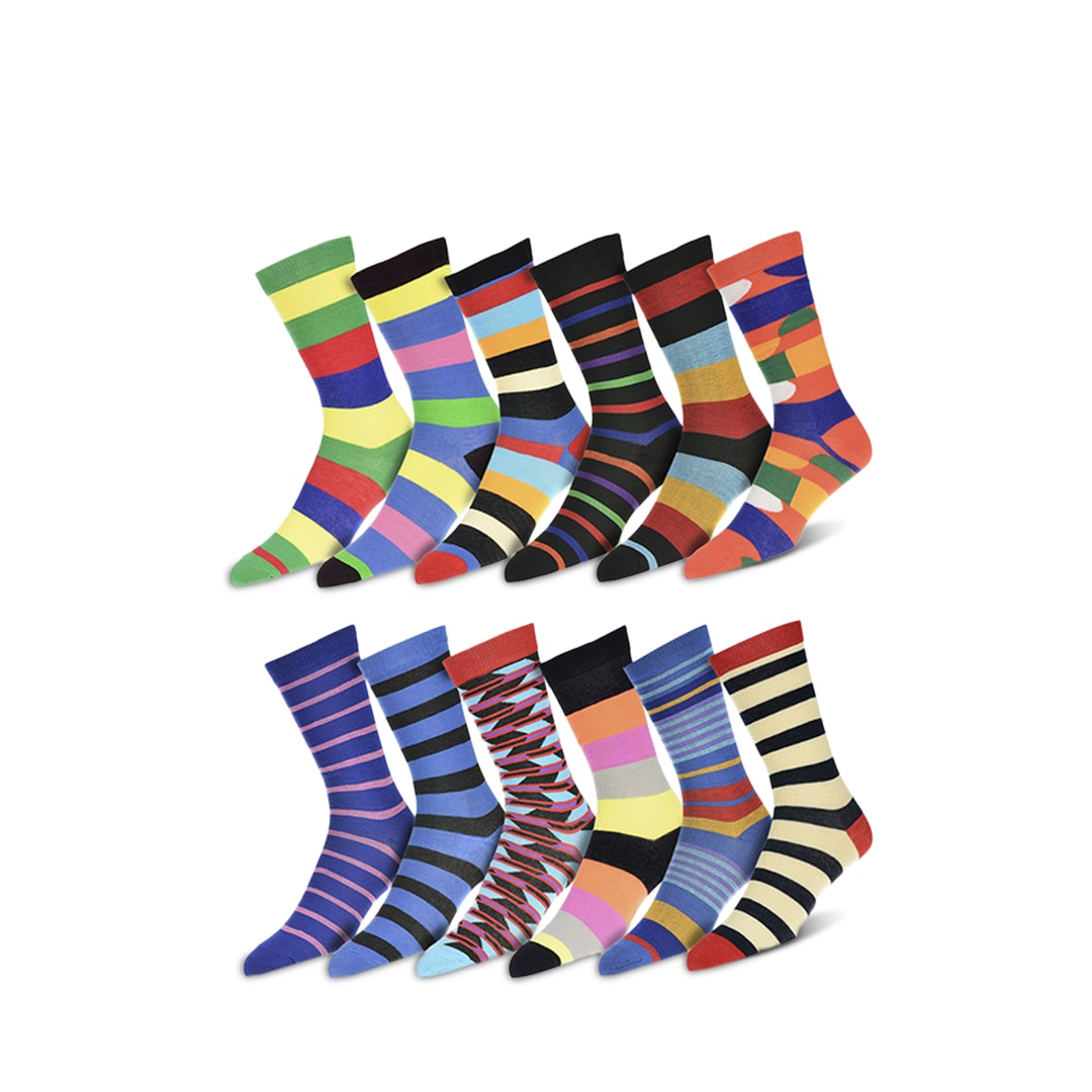 Robert Shweitzer Patterned Dress Socks (12-Pack)