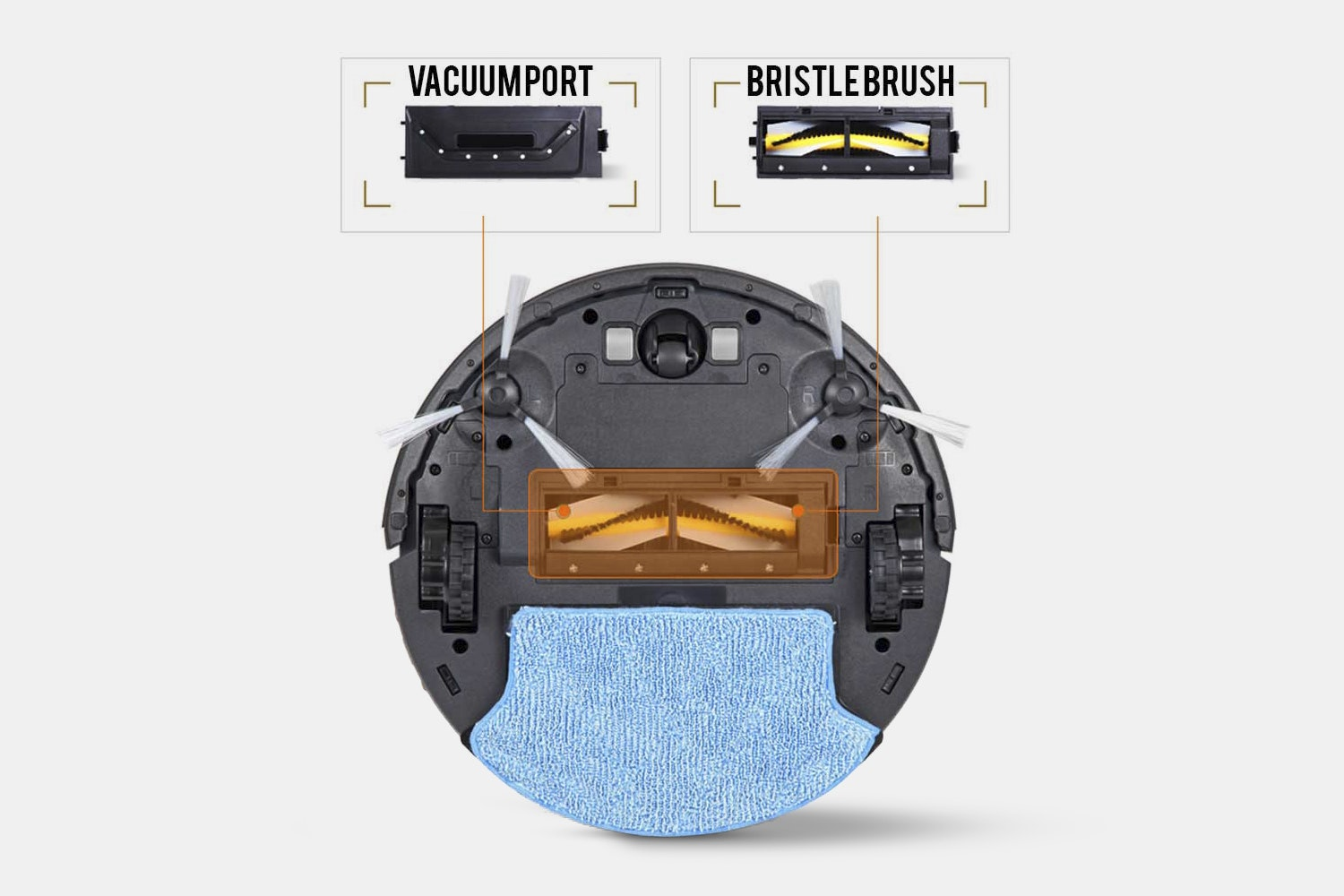 RolliBot Wi-Fi Connected Vacuum/Wet Mop