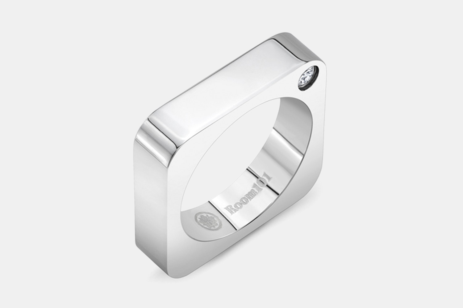 Plain Square Stainless Steel Ring - Stainless Steel
