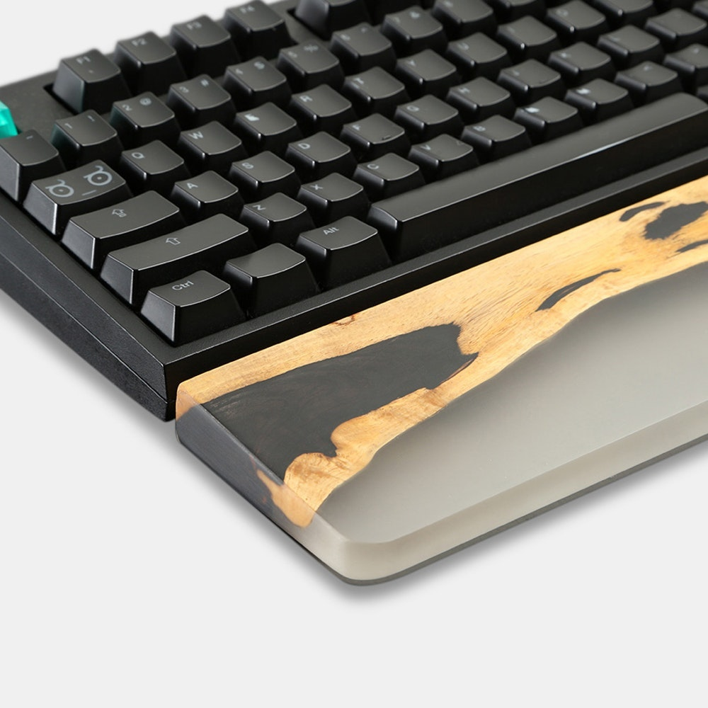 Royal Glam Resin & Ebony Wood Wrist Rest