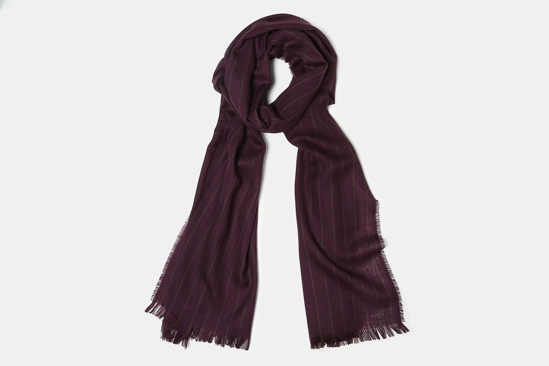 Purple Thin Green Stripe 79 X 19 IN