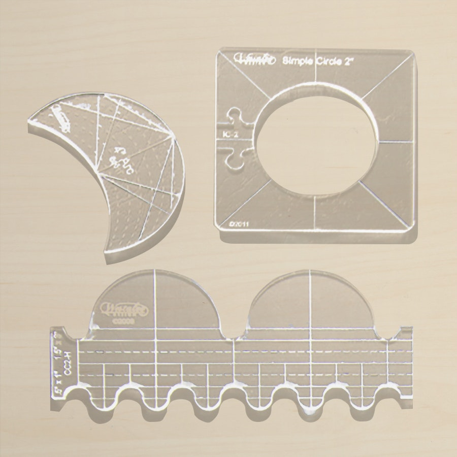 Ruler Foot and Template Set