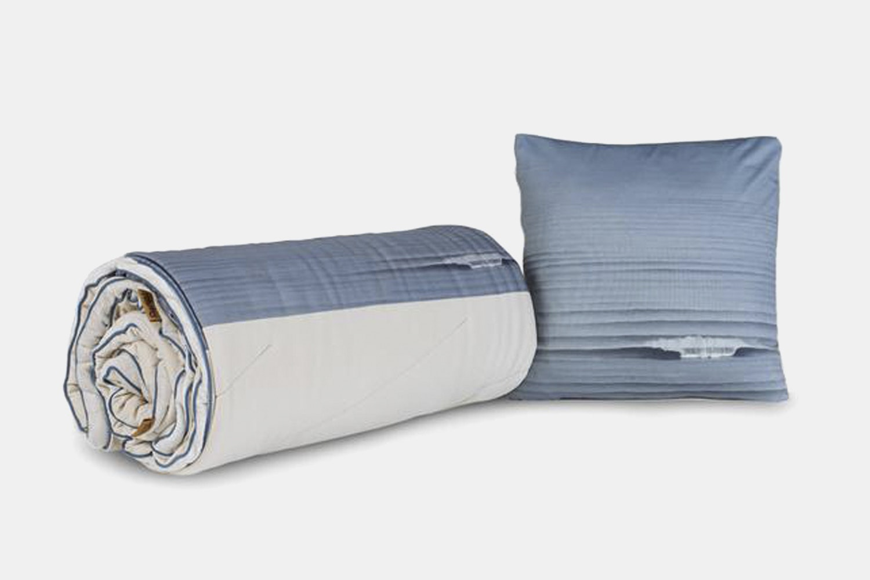Waves Super Fleece Throw Pillow –Stone/Waves (+ $14)