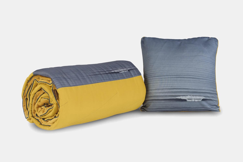 Waves Super Fleece Throw Pillow –Yellow/Waves (+ $14)