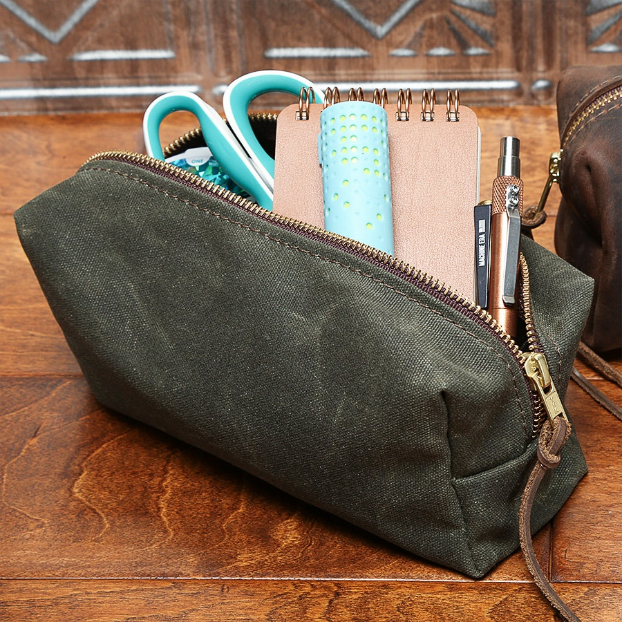 Rustico Highline Two Leather/Canvas Pouch