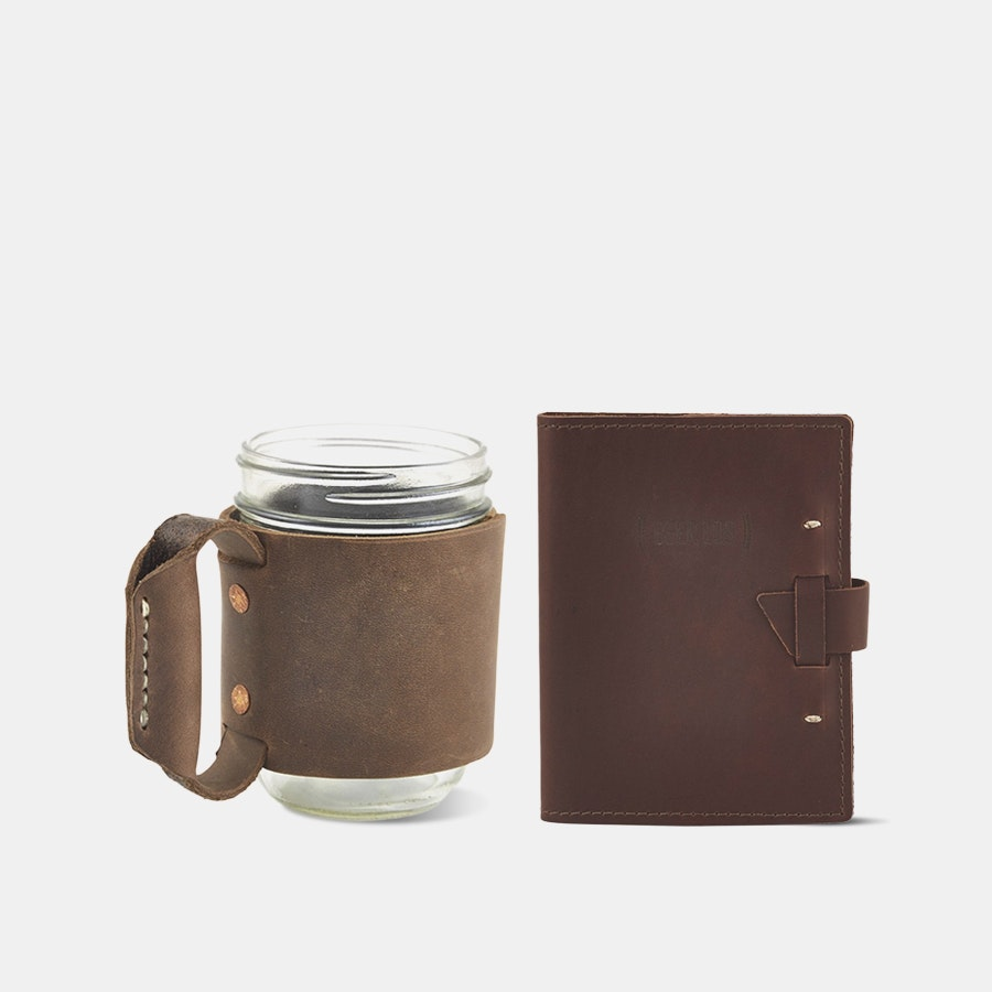 Rustico Miner's Mug & Beer Journal Bundle