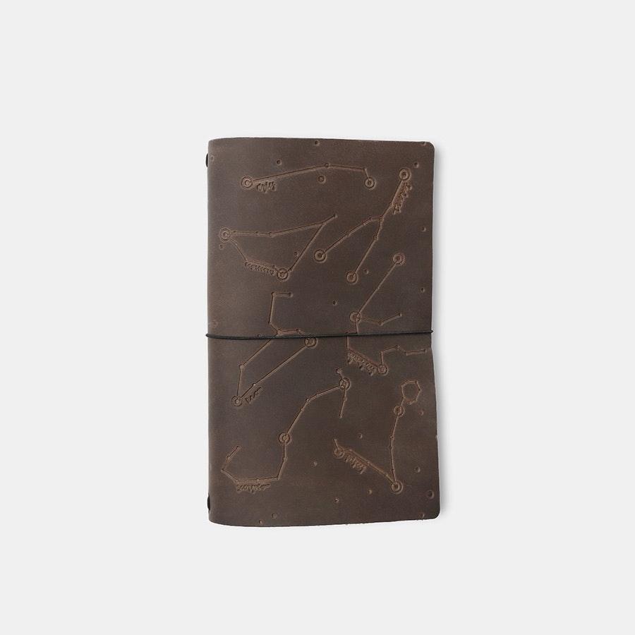 Rustico Zodiac Night Sky Leather Notebook