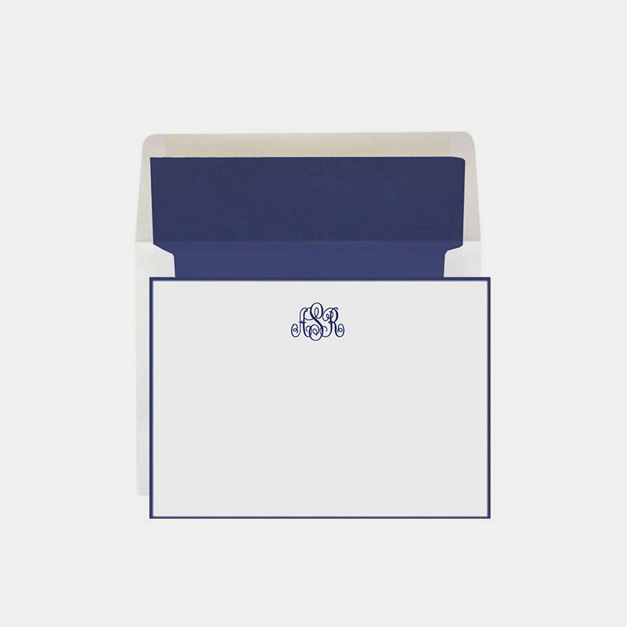 Rytex Hand-Bordered Monogrammed Stationery Set