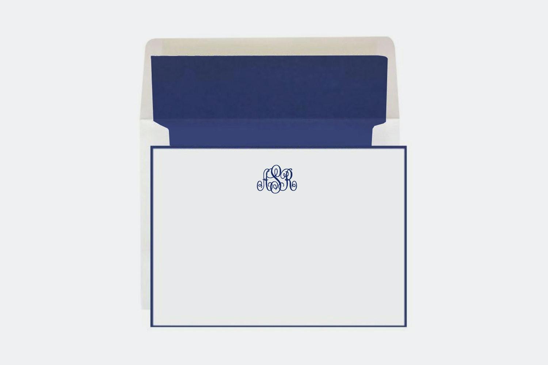 Rytex Hand-Bordered Monogrammed Stationery Set