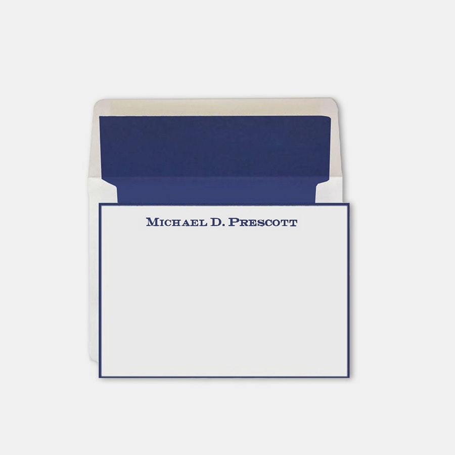Rytex Hand-Bordered Personalized Stationery Set