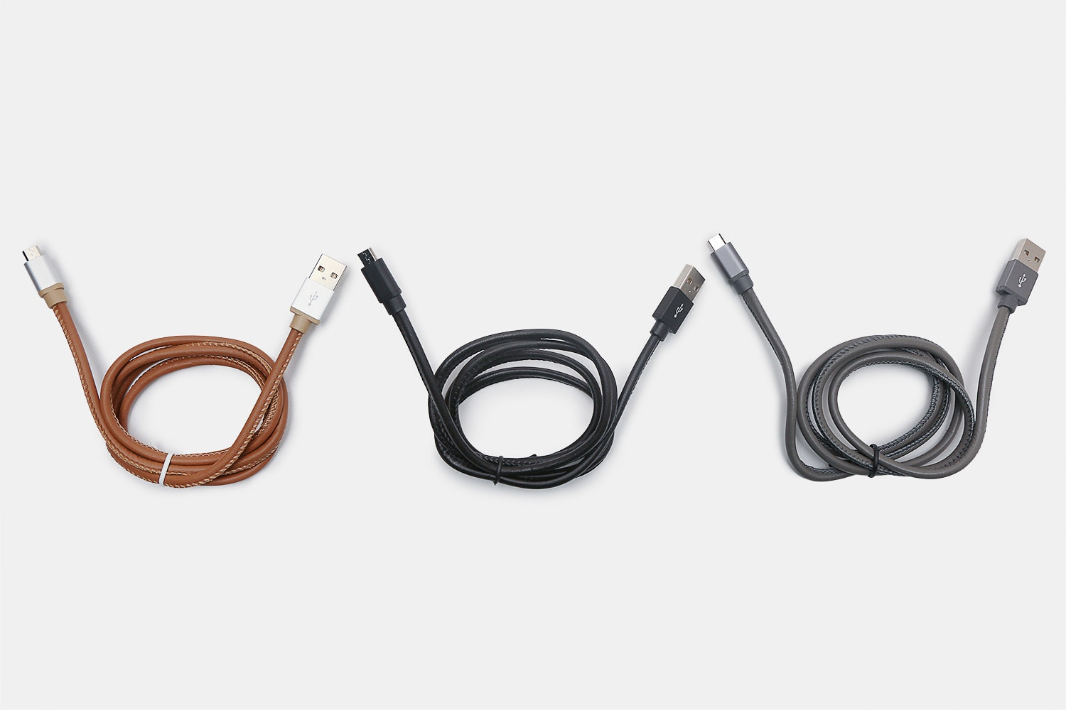 S.Taylor Genuine Leather Android & iPhone Cables