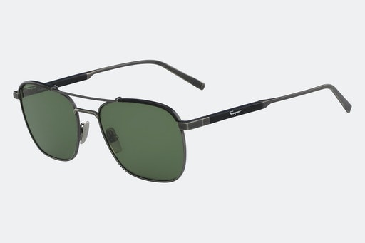 Salvatore Ferragamo Double-Bridge Sunglasses