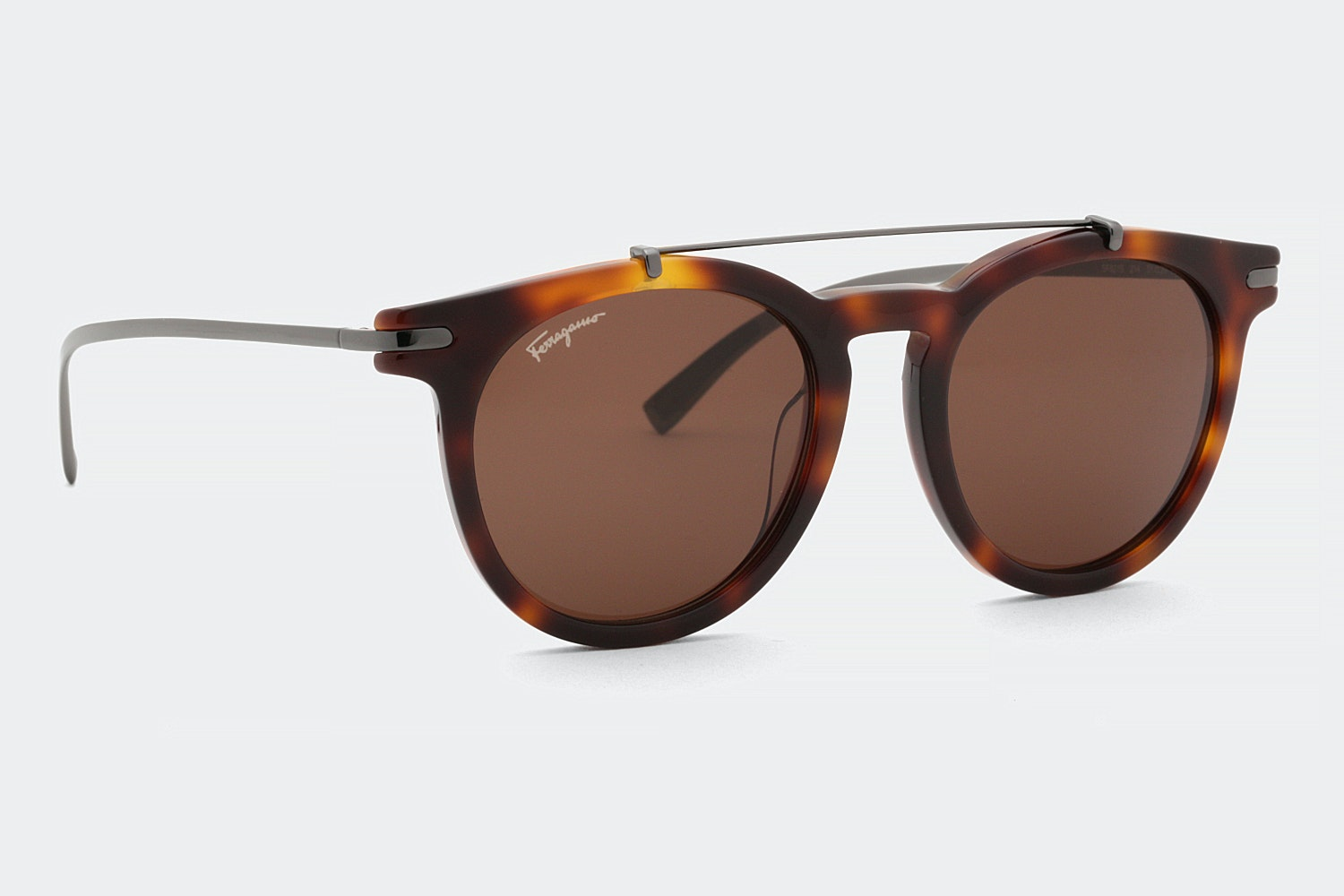 Havana frame with brown lenses