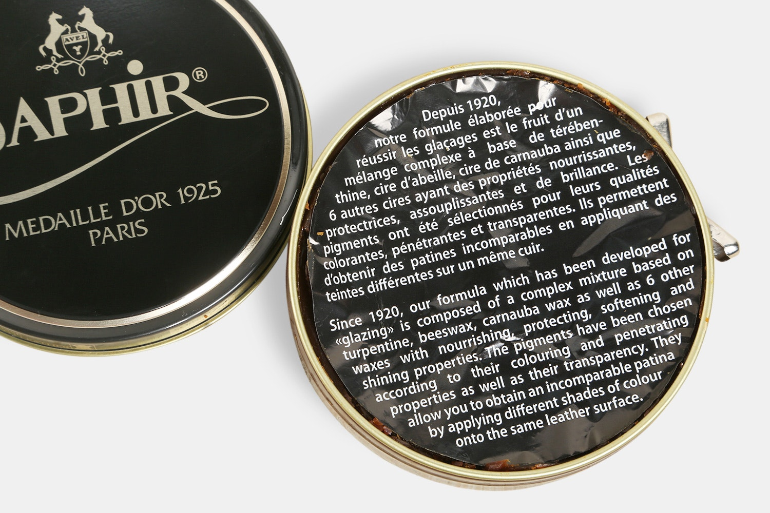 Saphir 100ml Wax Polish (2-Pack)