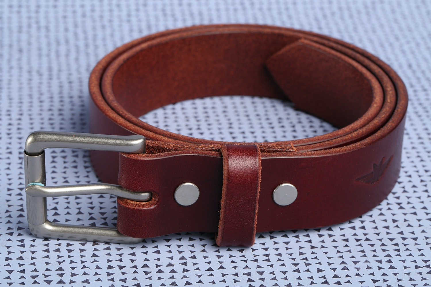 """1.25"""" WIde Chestnut with Silver Buckle"""