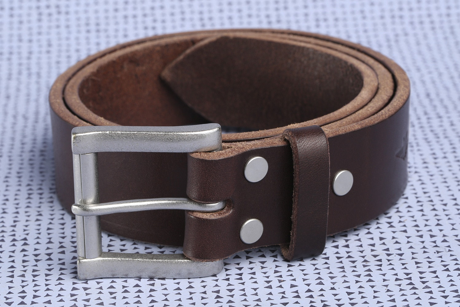 "1.5""  Wide Havana with Silver Buckle"