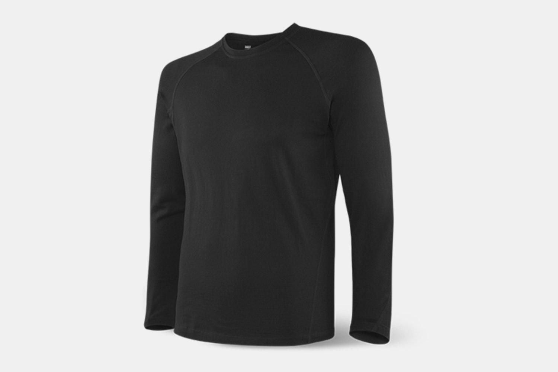Blacksheep longsleeve – black heather (+ $40)