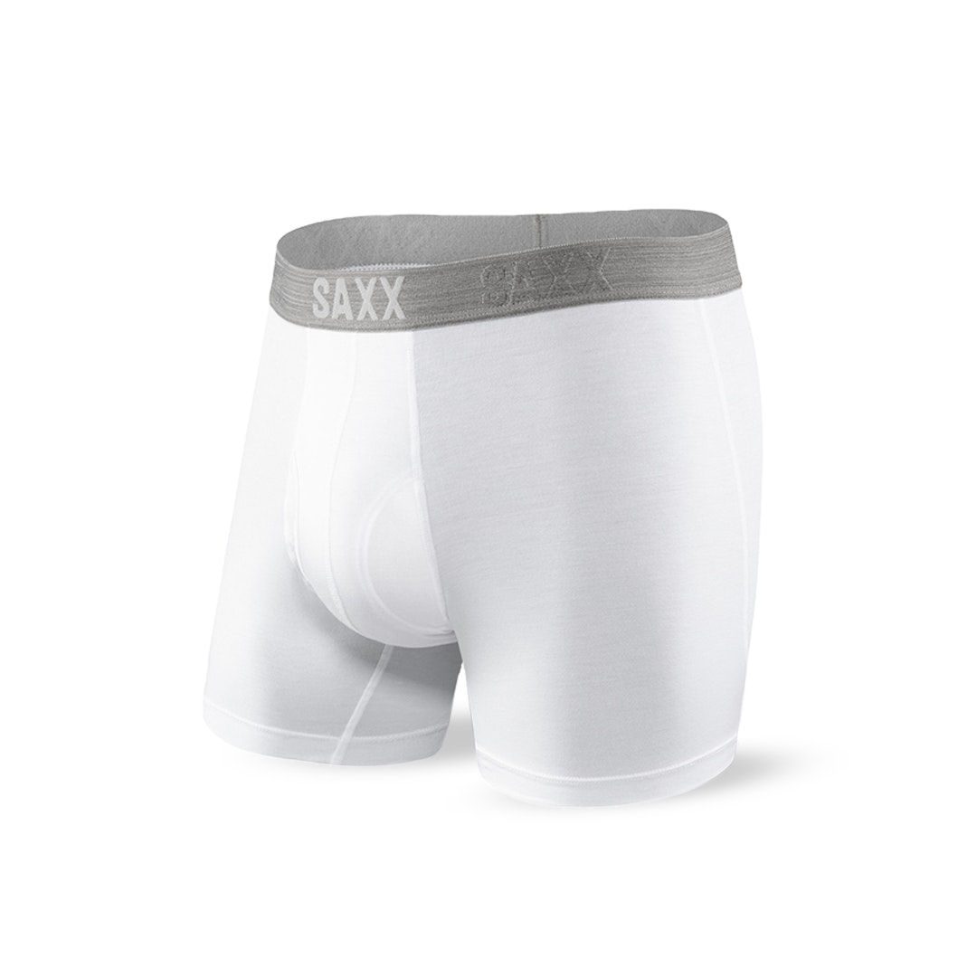 SAXX Platinum White Boxer Briefs (2-Pack)