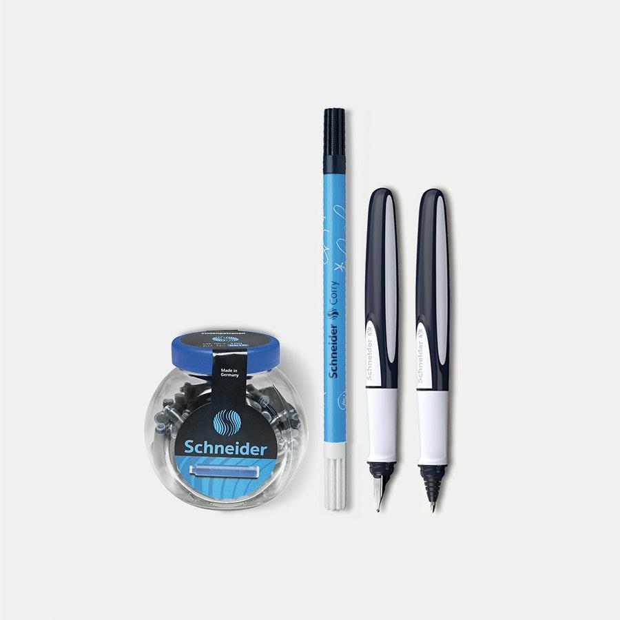 Schneider Ray Fountain Pen & Rollerball Bundle
