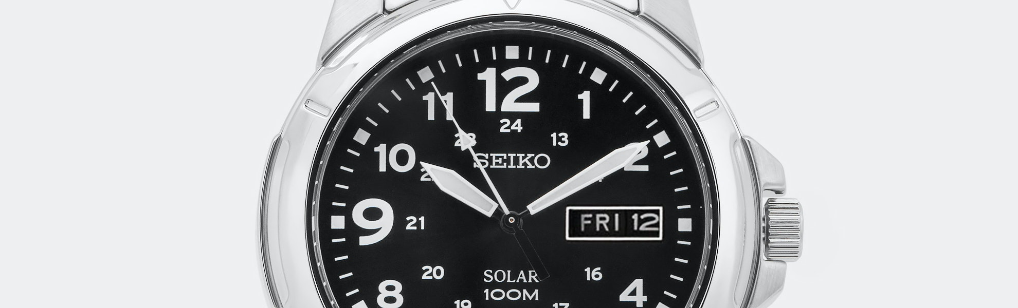 Seiko Black Solar Watch