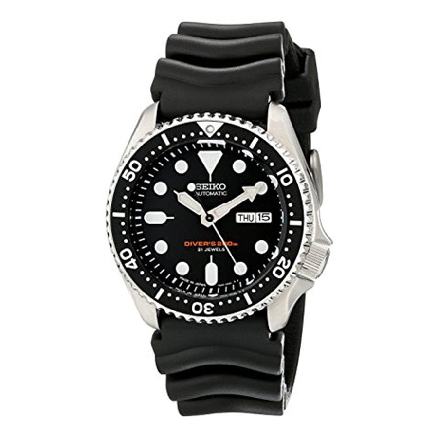 SKX007J1 | Black Dial, Black Bezel, Rubber Strap (+$30)