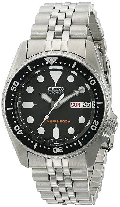 SKX013K2 | Black Dial, Black Bezel, Stainless Steel Bracelet (+ $10)
