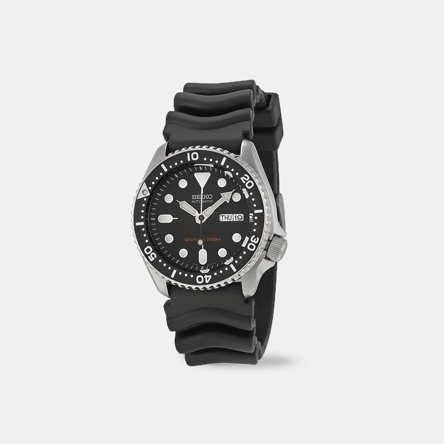 Shop Seiko Diver Watch Automatic Discover Community Reviews At Skx007k2 Divers 200m Black Dial Massdrop