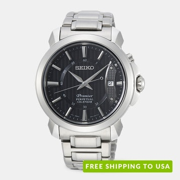 Seiko Premier SNQ Series Quartz Watch
