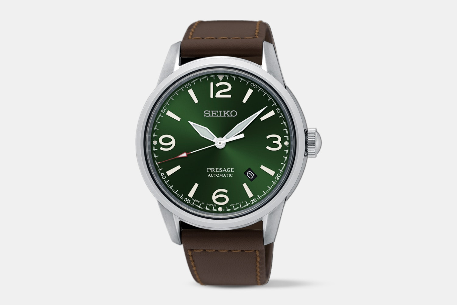 SRPB65J1 (green dial, brown leather strap)